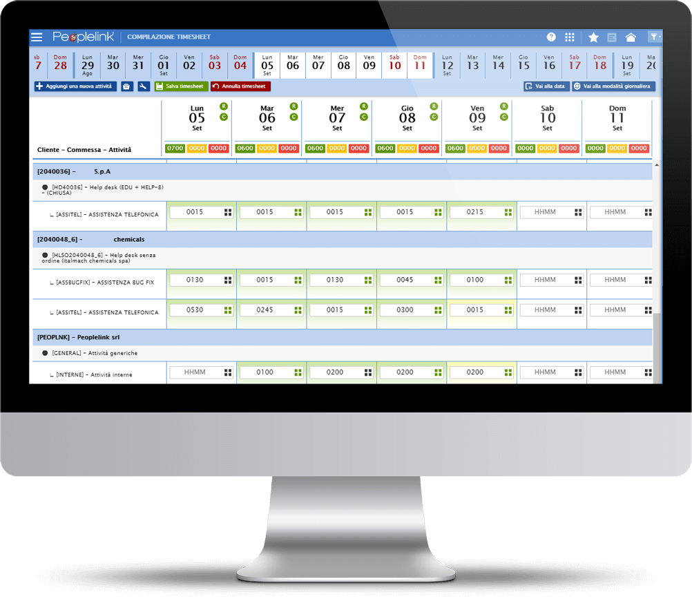 Software di gestione delle attività aziendali di Peoplelink Srl